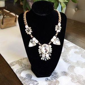 Crystal and gold statement necklace